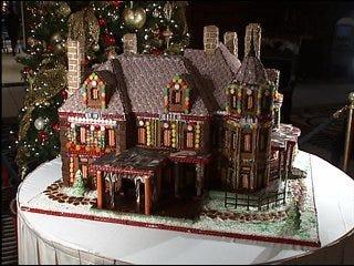 Gingerbread House Made of Oklahoma History