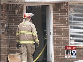 Moore House Fire Caused by Cracked Chimney