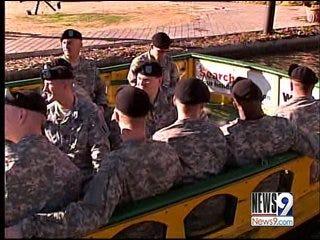Troops Enjoy Bricktown for Holidays