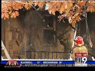 Cigarette, Oxygen Tank Ignite House Fire