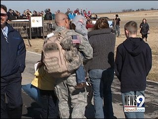 Troops Return in Time for Holidays