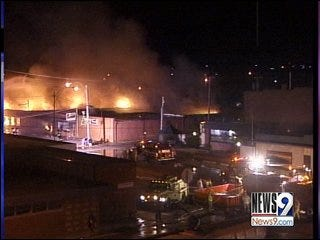 High Winds Fuel Downtown Cyril Fire