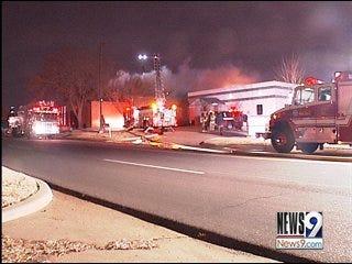 Firefighters Battle 3-Alarm Warehouse Fire