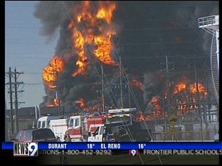 Wynnewood oil refinery fire extinguished quickly