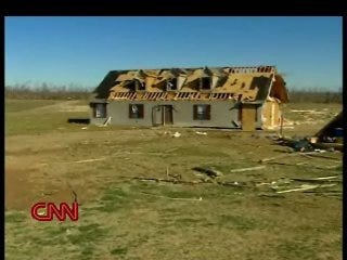 Family safe in shelter as house flew by