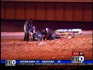 Woman hurt in fiery crash