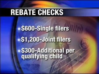 Rebate check information from the IRS