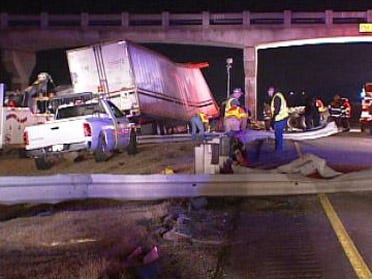 Truck driver dies in fiery crash on I-40