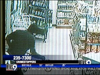 Armed robbery caught on tape