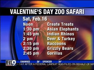 Zoo celebrates Valentine's Day