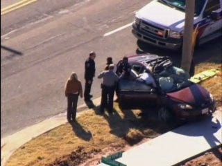 Police chase ends with crash
