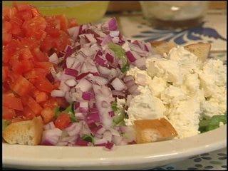 Caesar and Greek Salad with Lemon Vinaigrette