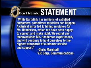 Internet provider double charged customer for 2 years