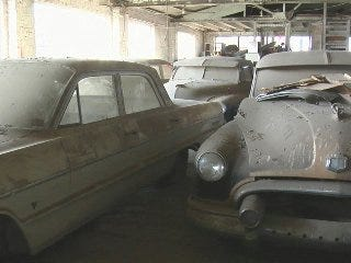 Downtown garage houses classic car collection