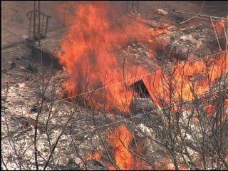 Fire near Shawnee destroys church Monday