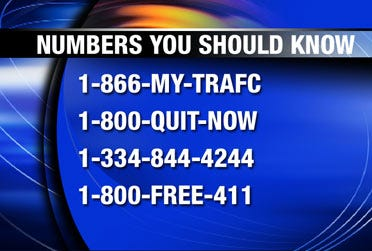 Phone numbers that solve problems