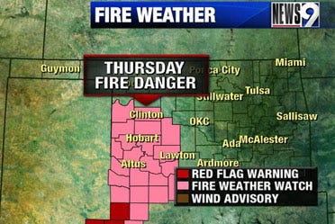 Fire weather watch in effect for Thursday