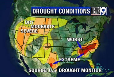 Drought areas improve as heavy rains continue