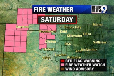 High fire danger expected Saturday