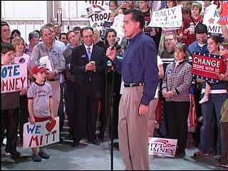 Romney stumps in Oklahoma