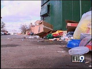 Trash piles up at OKC apartments