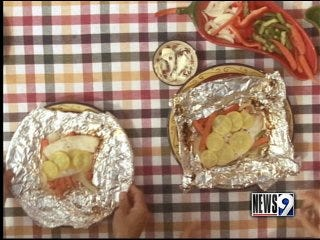 Jay's famous fish and vegetable packets