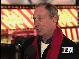 NYC Mayor Bloomberg visiting Norman