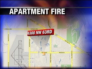 Apartment fire quickly squelched