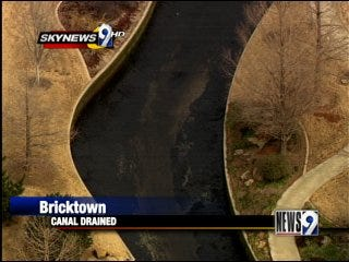 Bricktown canal drained, cleaned