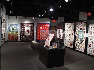 Quilts on display at National Memorial