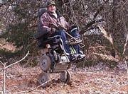 Man can't walk, still hunts