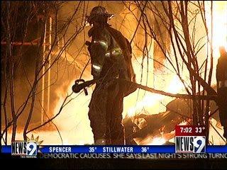 Blaze destroys Warr Acres home