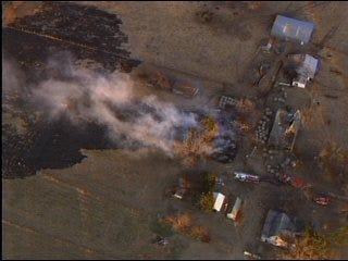 Grass fire breaks out near Shawnee