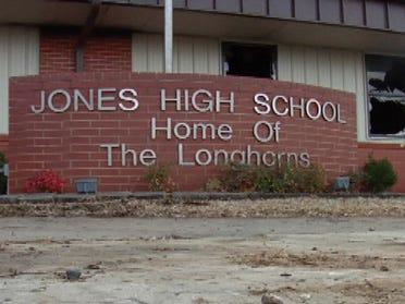Jones High School opened Monday