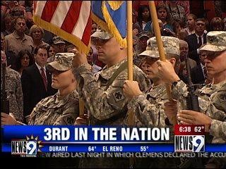Oklahoma ranks third in deployed troops
