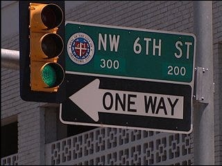 One-way streets converted to two-way