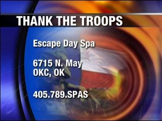 Spa says 'thank you' to troops