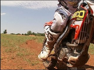 Oklahoma's rookie motocross racer scores high