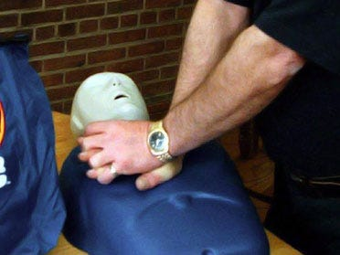 CPR. A lifesaving action