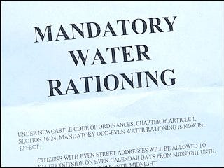 Newcastle residents forced to ration water