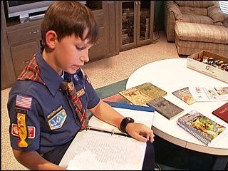 Boy raises money for fellow boy scouts