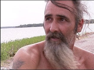 Missing man emerges from swamp