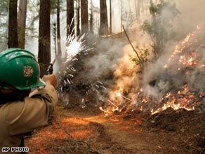 California fires threaten Big Sur, Santa Barbara County