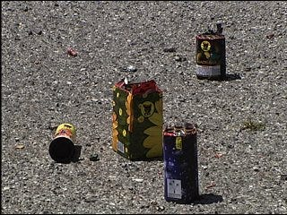 Fireworks leave mess for Spencer businesses
