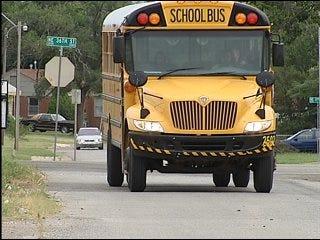 School buses increase security