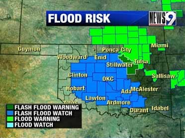 Thunderstorms, flooding Tuesday