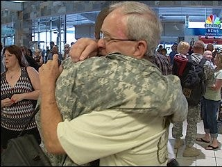 Soldier serving in third tour is welcomed home