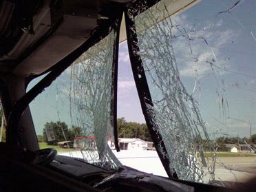 3 questioned in tombstone shattered windshield case