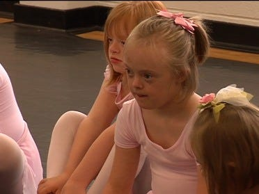 Ballet class offered to young girls with Down syndrome