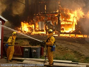 Storms spark dozens of fires in California